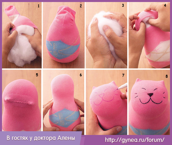 Как сделать игрушку котику