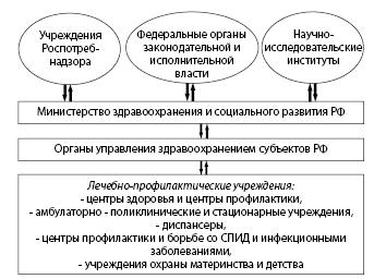 Рисунок 1.2. Принципиальная схема организации системы профилактических мероприятий на территории РФ