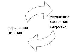 Рисунок 6.3. «Порочный круг» нарушения питания и здоровья
